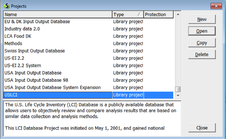 How to see what projects use specific libraries in SimaPro