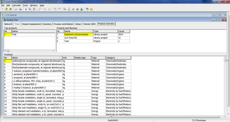 How to see what underlying processes are used in your process in SimaPro