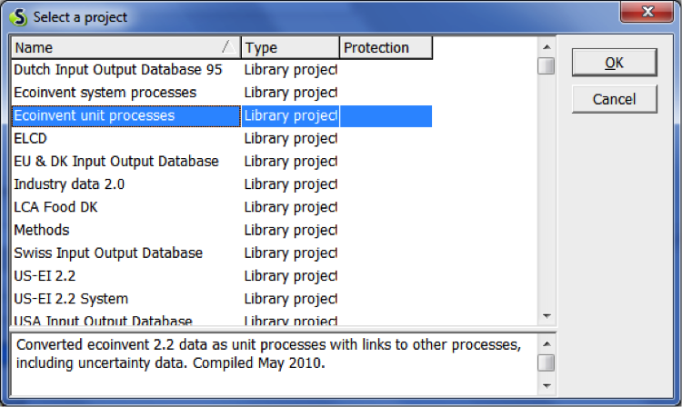 Library switch function in SimaPro - Replacing library